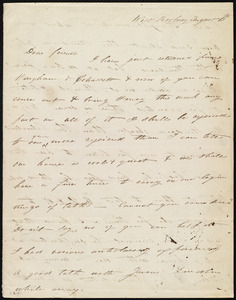 Letter from Eliza Lee Cabot Follen, West Roxbury, [Mass.], to Maria Weston Chapman, August 13th, [1843]