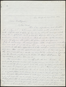 Letter from John Anderson Collins, New Hartford, [NY], to Maria Weston Chapman, August 23, 1843