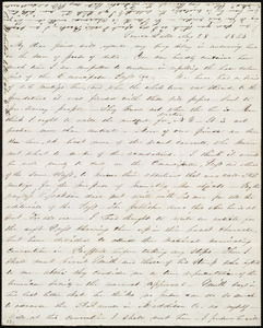 Letter from Abby Kelley Foster, Seneca Falls, [NY], to Maria Weston Chapman, Aug. 28, 1843