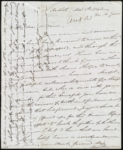 Letter from William James, Bristol, [England], to Maria Weston Chapman, Nov. 1st, 1843