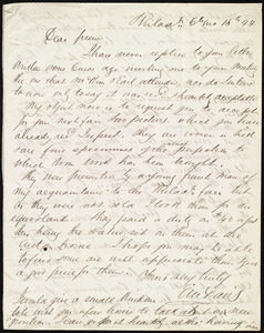Incomplete letter from Edward Morris Davis, Philad., [PA], to Maria Weston Chapman, 6th mo[nth] 15th [day] [18]44