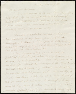 Letter from Samuel May, Leicester, [Mass.], to Maria Weston Chapman, Nov. 27, 1844