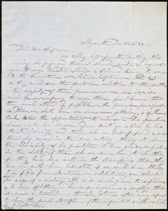 Letter from Jane Elizabeth Hitchcock, Plymouth, [Penn.], to Maria Weston Chapman, Dec. 15, 1844