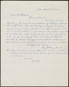 Letter from Mary P. Kenny, Salem, [Mass.], to Maria Weston Chapman, March 2nd, 1845
