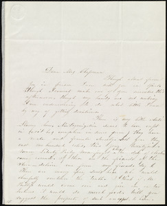 Letter from Mary E. Russell Miles, 60 Broadway, Albany, [NY], to Maria Weston Chapman, Dec. 3, [18]45