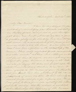 Letter from Mary Grew, Philadelphia, [Penn.], to Maria Weston Chapman, Feb'y 25th, 1846