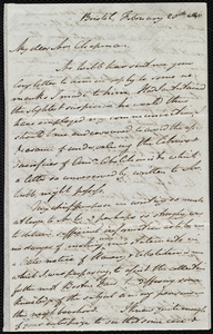 Letter from John Bishop Estlin, Bristol, [England], to Maria Weston Chapman, February 28th, 1846