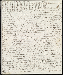 Letter from Mary Anne Estlin, Park St[reet], [Bristol, England], to Maria Weston Chapman, September 1, 1846