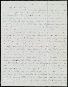 Letter from Abby Kelley Foster, Brunswick, Co[unty], [Ohio], to Maria Weston Chapman, Sept. 21, [18]46