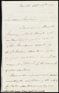 Letter from John Bishop Estlin, Bristol, [England], to Maria Weston Chapman, Oct. 12th, 1846