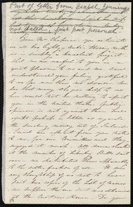 Letter from Isabel Jennings, [Cork?, Ireland], to Maria Weston Chapman, [1847?]
