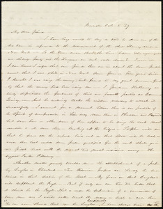 Letter from Abby Kelley Foster, Worcester, [Mass.], to Maria Weston Chapman, Oct. 5, [18]47