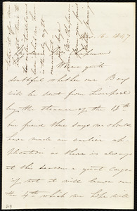 Letter from Isabel Jennings, [Cork, Ireland], to Maria Weston Chapman, Nov. 16, 1847