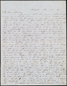 Letter from Abby Kelley Foster, Worcester, [Mass.], to Maria Weston Chapman, Mar[ch] 20, [18]48