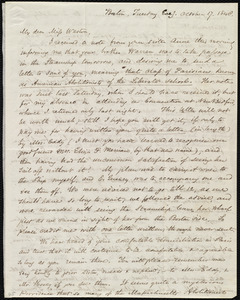 Letter from Samuel May, Boston, [Mass.], to Caroline Weston, Tuesday Eve'g, October 17, 1848