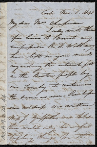 Letter from Isabel Jennings, Cork, [Ireland], to Maria Weston Chapman, Nov. 1, 1848