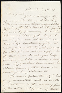 Letter from Jane Elizabeth Jones, Salem, [Ohio], to Anne Warren Weston, March 21st, [18]49