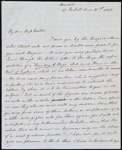 Letter from Emma Michell, 47 Park St., Bristol, [England], to Anne Warren Weston, Nov. 21st [- 23rd], 1849