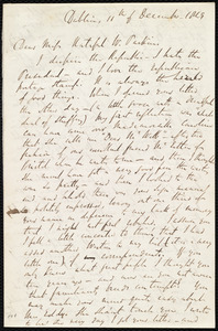 Letter from Richard Davis Webb, Dublin, [Ireland], to Caroline Weston, 11th of December 1849
