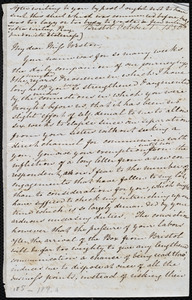 Letter from Mary Anne Estlin, Bristol, [England], to Anne Warren Weston, October 1, 1850, [and] Monday morn[ing], Oct. 7, 1850