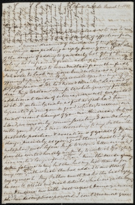 Letter from Mary Anne Estlin, Bristol, [England], Park St[reet], to Maria Weston Chapman, March 2, 1851