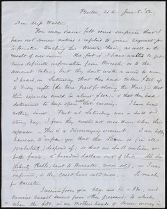 Letter from Samuel May, Boston, [Mass.], to Anne Warren Weston, Jan. 8, [18]52