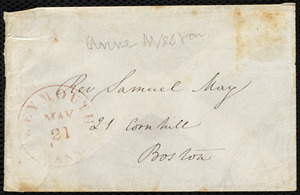 Letter from Mary Anne Estlin, Park St., Bristol, [England], to Caroline Weston, May 16, 1851