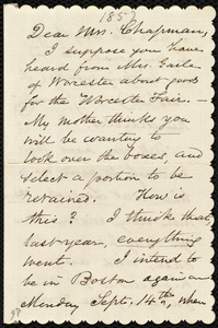 Letter from Samuel May to Maria Weston Chapman, Sept. 2 / [18]57