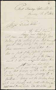 Letter from Augustus Hesse, Fort Ramsay, Upton hill, Va., to Deborah Weston, January the 4th, 1863