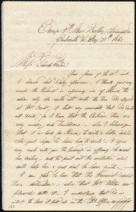 Letter from Augustus Hesse, Camp, 9th Mass. Battery, Centreville, Va., to Deborah Weston, May 27th, 1863