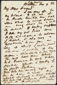 Letter from John Murray Forbes, Milton, [Mass.], to Maria Weston Chapman, Nov. 9, [18]82