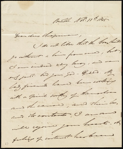 Letter from William James, Boston, [Mass.], to Maria Weston Chapman, Nov. 11th, 1848