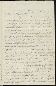 Letter from Evelina A. S. Smith, Hingham, [Mass.], to Caroline Weston, Sept. 25, [1836]