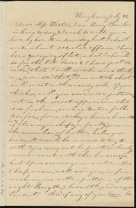 Letter from Evelina A. S. Smith, Hingham, [Mass.], to Caroline Weston, July 21, [1839?]