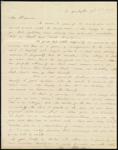Letter from Louisa Phillips, No[rth] Marshfield, [Mass.], to Maria Weston Chapman, July 31st, 1837