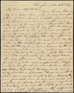 Letter from Increase S. Smith, Hingham, [Mass.], to Caroline Weston, March 30, 1839