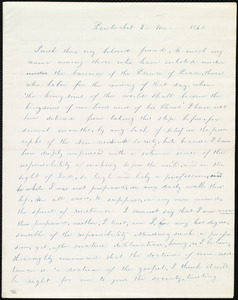 Letter from Elizabeth Buffum Chace, Pawtucket, [RI], to Maria Weston Chapman, 3 mo[nth] 1840