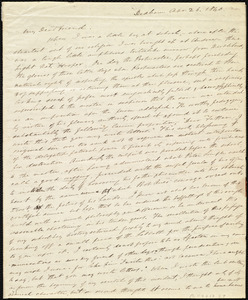 Letter from Edmund Quincy, Dedham, [Mass.], to Maria Weston Chapman, Apr[il] 26, 1840