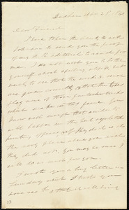 Letter from Edmund Quincy, Dedham, [Mass.], to Maria Weston Chapman, Apr[il] 28, 1840