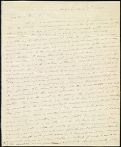 Letter from Edmund Quincy, Dedham, [Mass.], to Maria Weston Chapman, May 3'd, 1840