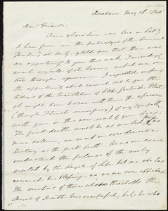 Letter from Edmund Quincy, Dedham, [Mass.], to Maria Weston Chapman, May 18, 1840 [i.e. 1841]