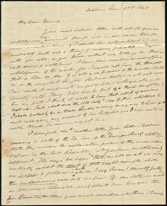 Letter from Edmund Quincy, Dedham, [Mass.], to Caroline Weston, June 25th, 1840