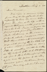 Letter from Edmund Quincy, Deham, [Mass.], to Maria Weston Chapman, Aug. 2, [18]40