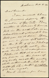 Letter from Edmund Quincy, Dedham, [Mass.], to Maria Weston Chapman, Oct. 8, [18]40