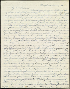Letter from Evelina A. S. Smith, Hingham, [Mass.], to Caroline Weston, Oct. 25, [18]40