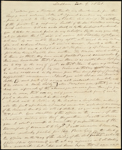 Letter from Edmund Quincy, Dedham, [Mass.], to Caroline Weston, Feb. 9, 1841