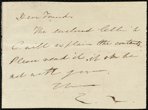 Letter from Edmund Quincy to Maria Weston Chapman