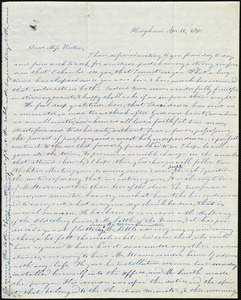 Letter from Evelina A. S. Smith, Hingham, [Mass.], to Caroline Weston, Apr[il] 12, 1841