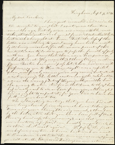 Letter from Evelina A. S. Smith, Hingham, [Mass.], to Caroline Weston, Sept. 9, 1841