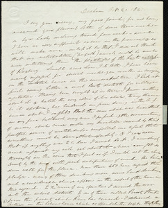 Letter from Edmund Quincy, Dedham, [Mass.], to Caroline Weston, Oct. 21, 1841